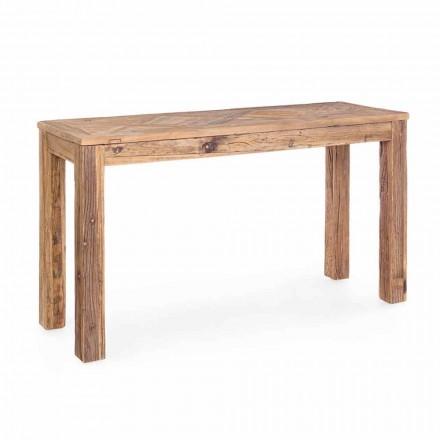 Konsolë druri të ricikluar të Elmit në stilin klasik të Homemotion - Galanga