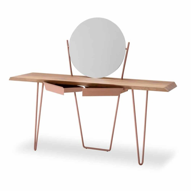 Console moderne prej druri dhe metali të prodhuar në Itali - Coseno Plus