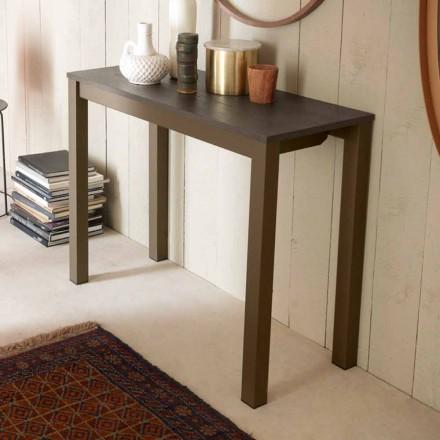 Konsolë e zgjatur moderne e tryezës në dru lisi dhe metal prodhuar në Itali - Nappo