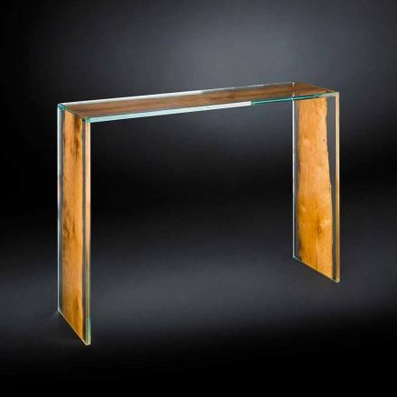 Tabela konzollash moderne e dizajnit Venezia, qelqi dhe druri