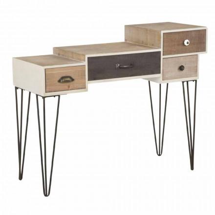 Console me sirtarë Stili modern industrial në dru dhe metal - Lille