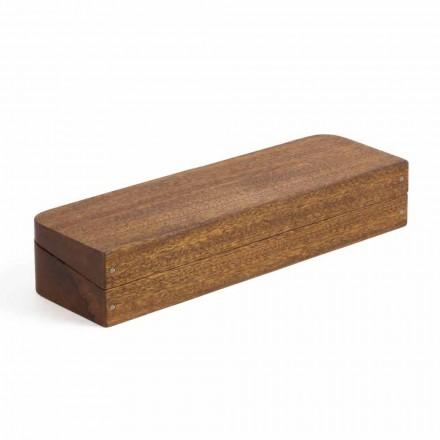 Kontejner për tavolina në dru Mahogany me 3 ndarje të prodhuara në Itali - Nitro
