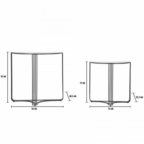Pift i konzollave të dizajnit modern në hekur dhe qelq - Ferdie