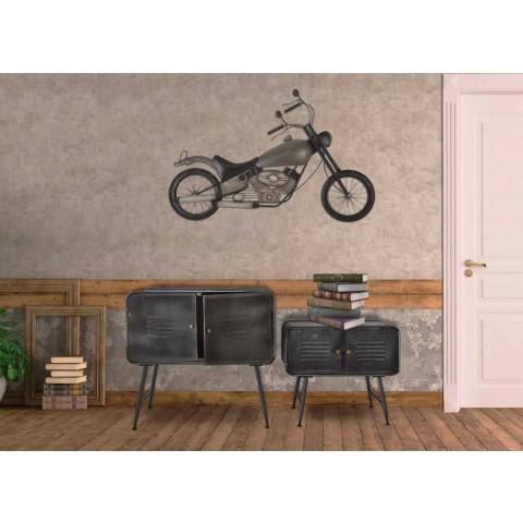 Palë anësore e stileve industriale për dhomën e ndenjes Dizajni modern i hekurit - Cuna