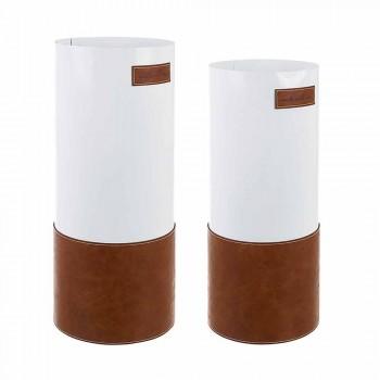 Çifti i ombrellës moderne në çelik dhe lëvizje prej lëkure - Umbro