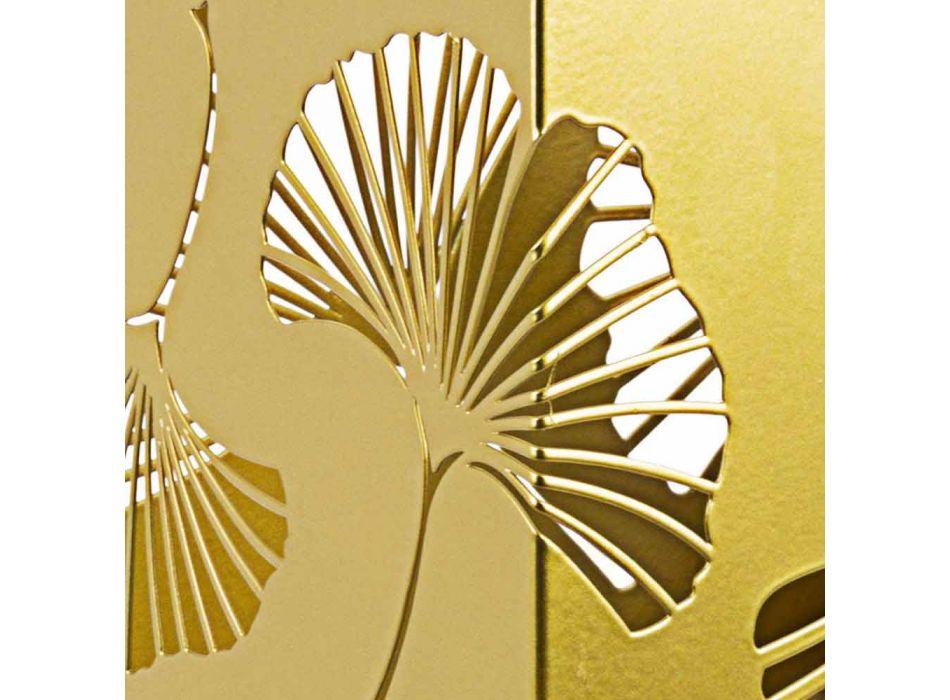 Çifti i ombrellës moderne në çelikun e pikturuar në lëvizje - Shi