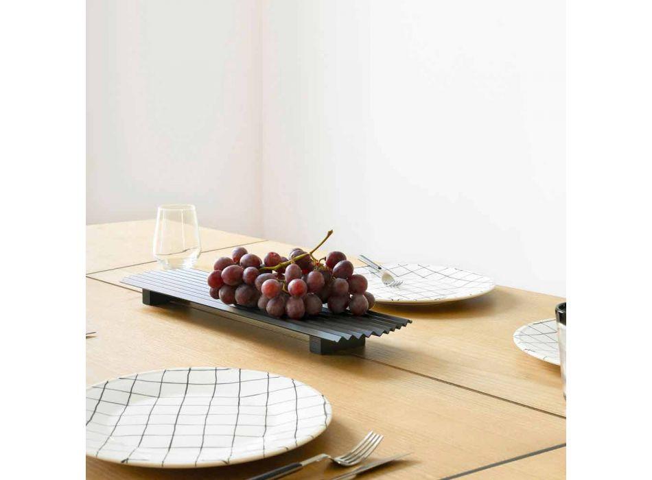 Çift tabakësh në dizajn modern çeliku të lakuar në të zezë ose të artë - Savona