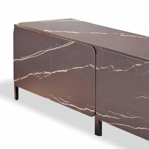 Dërrasë anësore e ulët në qeramikë dhe metal prodhuar në Itali - Bonaldo Frame Sideboard K