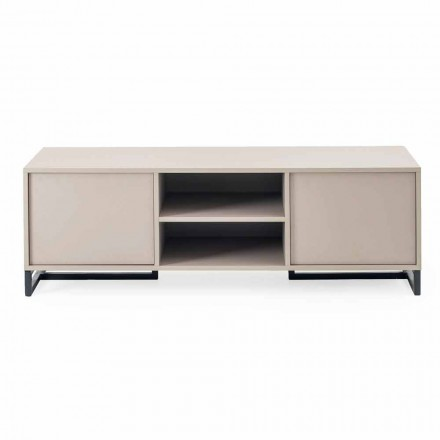 Sideboard modern i ulët në Mdf dhe Metal Made in Italy - Rohan