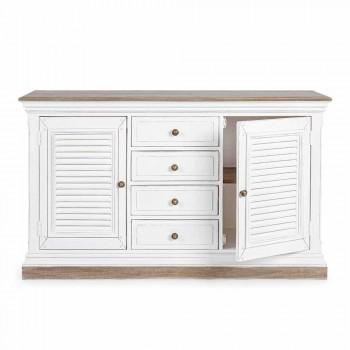 Dërrasë anësore me strukturë në modelin klasik të drurit të mangos së bardhë - Baffy