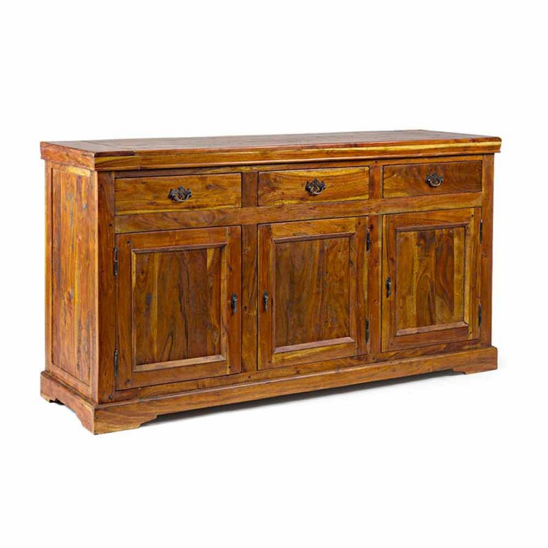 Dërrasë anësore me dizajn klasik në përfundim rustik me dru të akacies së ngurtë - Malaya