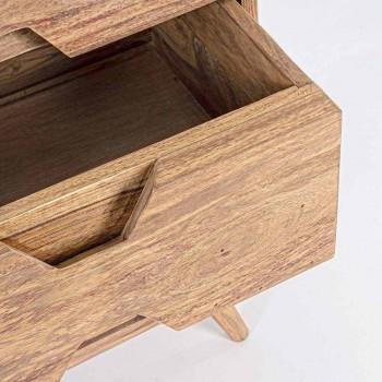 Dërrasë anësore në dru të përfunduar natyror me dyer dhe sirtarë Homemotion - Ventador