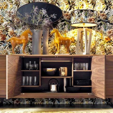 Grilli York 4 tabela anësore me rimeso druri e bërë në Itali