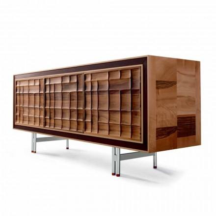 Dizajni modern, anësor i anës, me 3 dyer në dru të ngurtë, të bëra në Itali