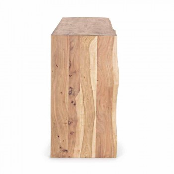 Dërrasë anësore moderne në dru akacie me 2 dyer dhe 3 sirtarë Homemotion - Lauro