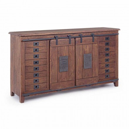 Sideboard Vintage Style në Dru dhe MDF me Vendosje Çeliku Homemotion - Pablo