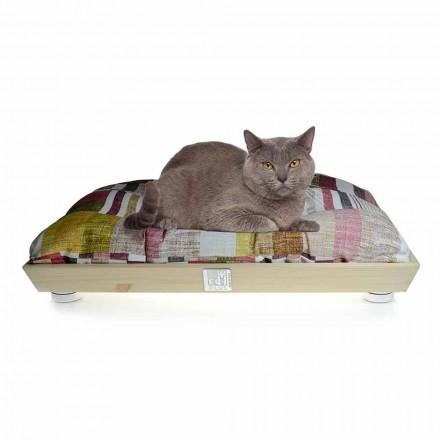 Lukuni për qen dhe mace në dru të ngurtë me jastëk që mund të lahet prodhuar në Itali - Juma