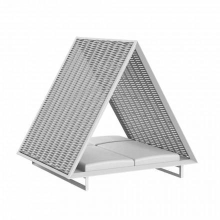 Kopsht luksoz me shtrat në alumin dhe pëlhurë - Frame Vineyard nga Vondom