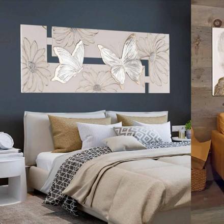 Piktura e ngulitur me dorë në kanavacë Martina, me flutura