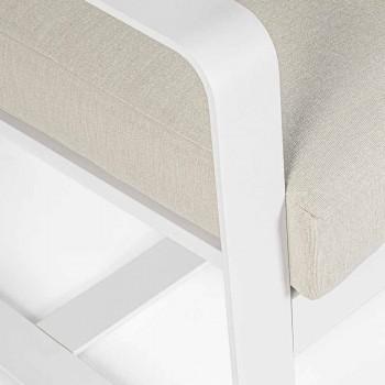 Divan për dy ambiente të jashtme në alumin me jastëkë pëlhure - Mirea