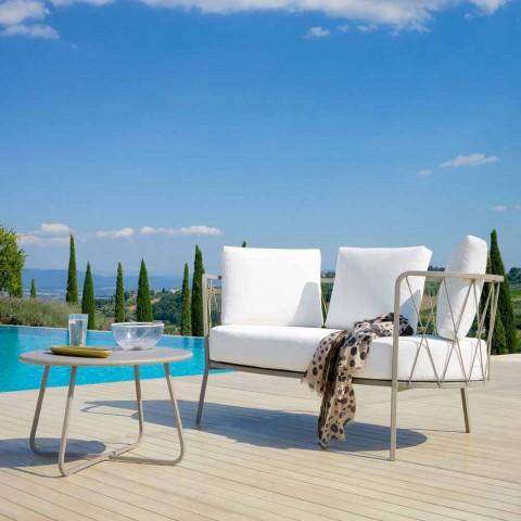 2 divan në natyrë 2 vendesh në metal dhe pëlhurë me jastëkë të bërë në Itali - Olma