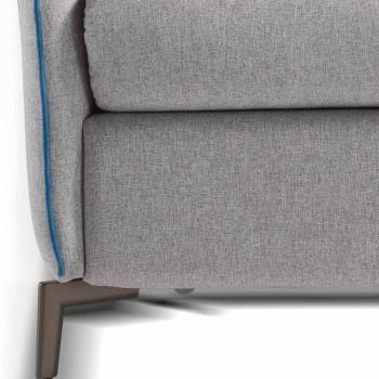 Sofje 2 vende maxi L.165cm lëkure / pëlhurë faux bërë në Itali Erica