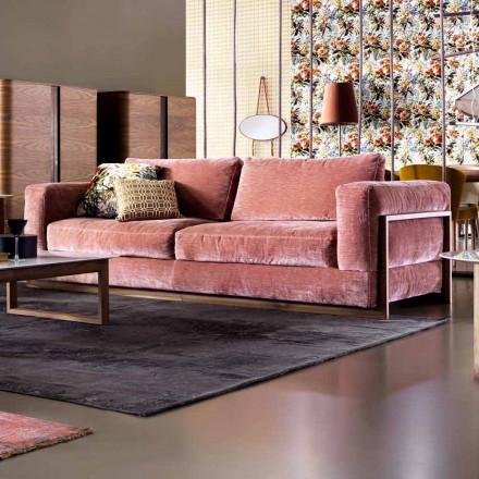 Divane me tre karrige me tapiceri të projektuar Grilli York 100% të bëra në Itali