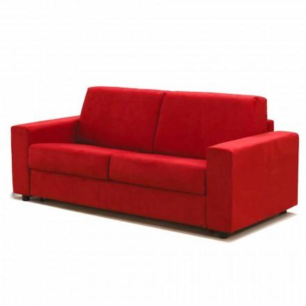 3 ulëse të mëdha divan Mora, të bëra në Itali, tapiceri pëlhure / lëkure