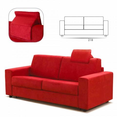 Divan maxi 3 vendesh dizajn modern eko-lëkure / pëlhure prodhuar në Itali Mora