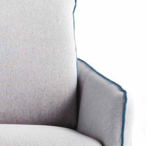 3-vendësh maxi divan L205 cm dizajn modern në eko-lëkurë / pëlhurë Erica