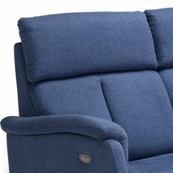 Dizajn modern divan 2 vendësh në lëkurë, eko-lëkurë ose pëlhurë Gelso