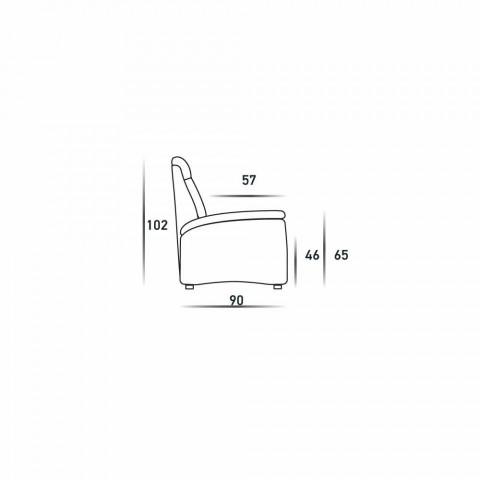 Dizajn modern 2 divan prej ulëseve në lëkurë, eko-lëkurë ose pëlhurë Gelso