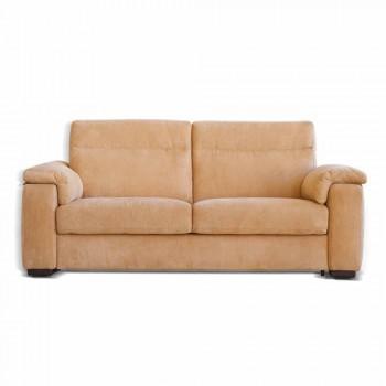 Dizajni divan 2 ulëse në pëlhurë ose eko-lëkurë Lilia, e bërë në Itali
