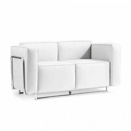 2 dollapë divan Bugola, strukturë eko-lëkure dhe kromuar, dizajn modern