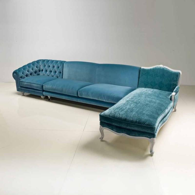 Luksoze klasike e divanit të qoshes, e bërë në Itali, Narciso