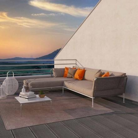 Sofa e Qoshes në natyrë të Dizajnit Modern në Pëlhurë Dove Grey ose Bardhë - Ontario3