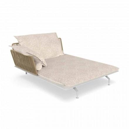 Garden Chaise Longue Sofa në alumin dhe pëlhurë - Cruise Alu nga Talenti