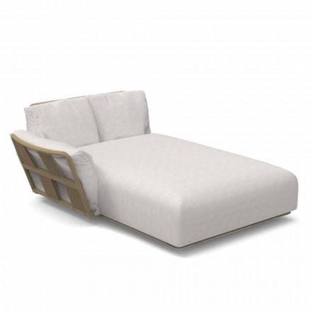 Garden Chaise Longue Sofa në pëlhurë dhe alumin - Scoking nga Talenti