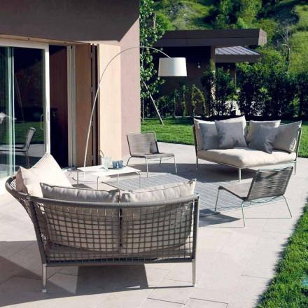 Pëlhurë rrethi kopsht Sofa pëlhurë pëllumbi-gri Made in Italy Design - Ontario4