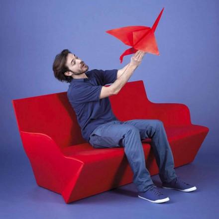Dizenjoni divanin e kopshtit me mbështetëse krahësh Slide Kami Yon, prodhuar në Itali