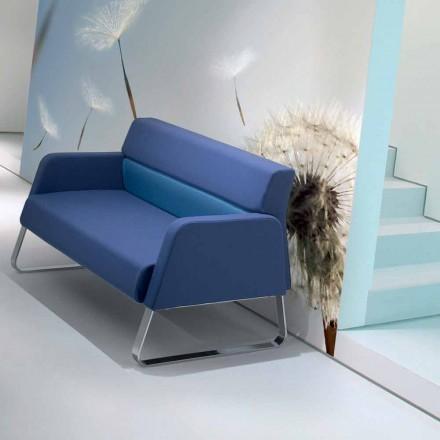 Divan lëkure Faux në pritje të modelit modern të bërë në Itali Ennio