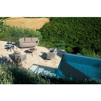 2 dollapë divan në natyrë në metal, pëlhurë dhe litar të bërë në Itali - Mari