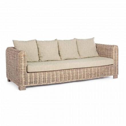 Homemotion - Sofja në natyrë e Dizajnit të Seater 3 Seara në Dru dhe Rat