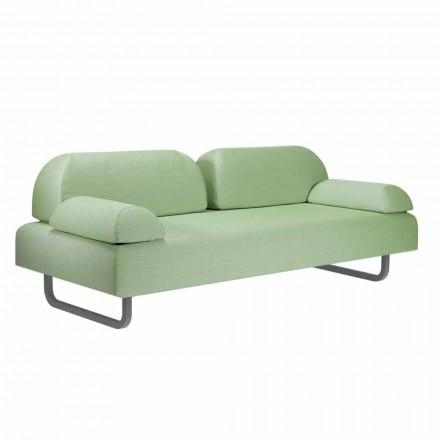 3 divan Design Seater në Metal dhe Pëlhura Made in Italy - Selia