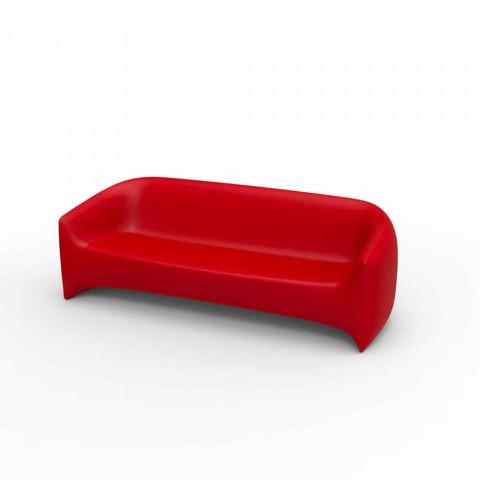 Dizajni divan në natyrë në rrëshirë polietileni Blow by Vondom