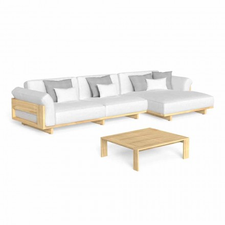 Sallon në natyrë me divan luksoz prej druri dhe tavolinë kafeje - Argo nga Talenti