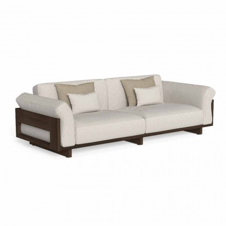 Sofa e jashtme e veshur me pëlhurë dhe dru të çmuar Accoya - Argo nga Talenti