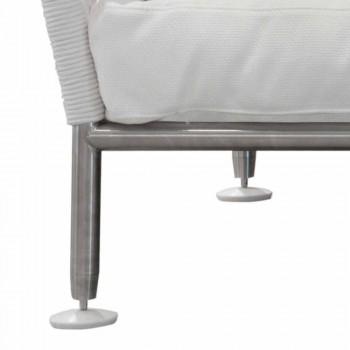 Divan në natyrë në jastëkë të bardhë prej çeliku dhe PVC të endur - Ontario6