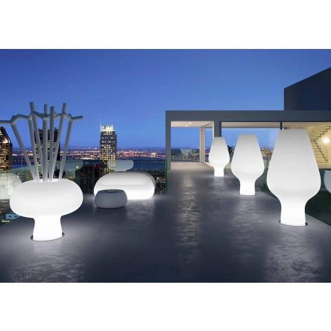 Sofa e ndritshme në natyrë me dritë LED në polietileni prodhuar në Itali - Ervin