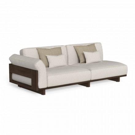 Sofa e jashtme modulare, Projektimi në Accoya prej druri të çmuar - Argo nga Talenti